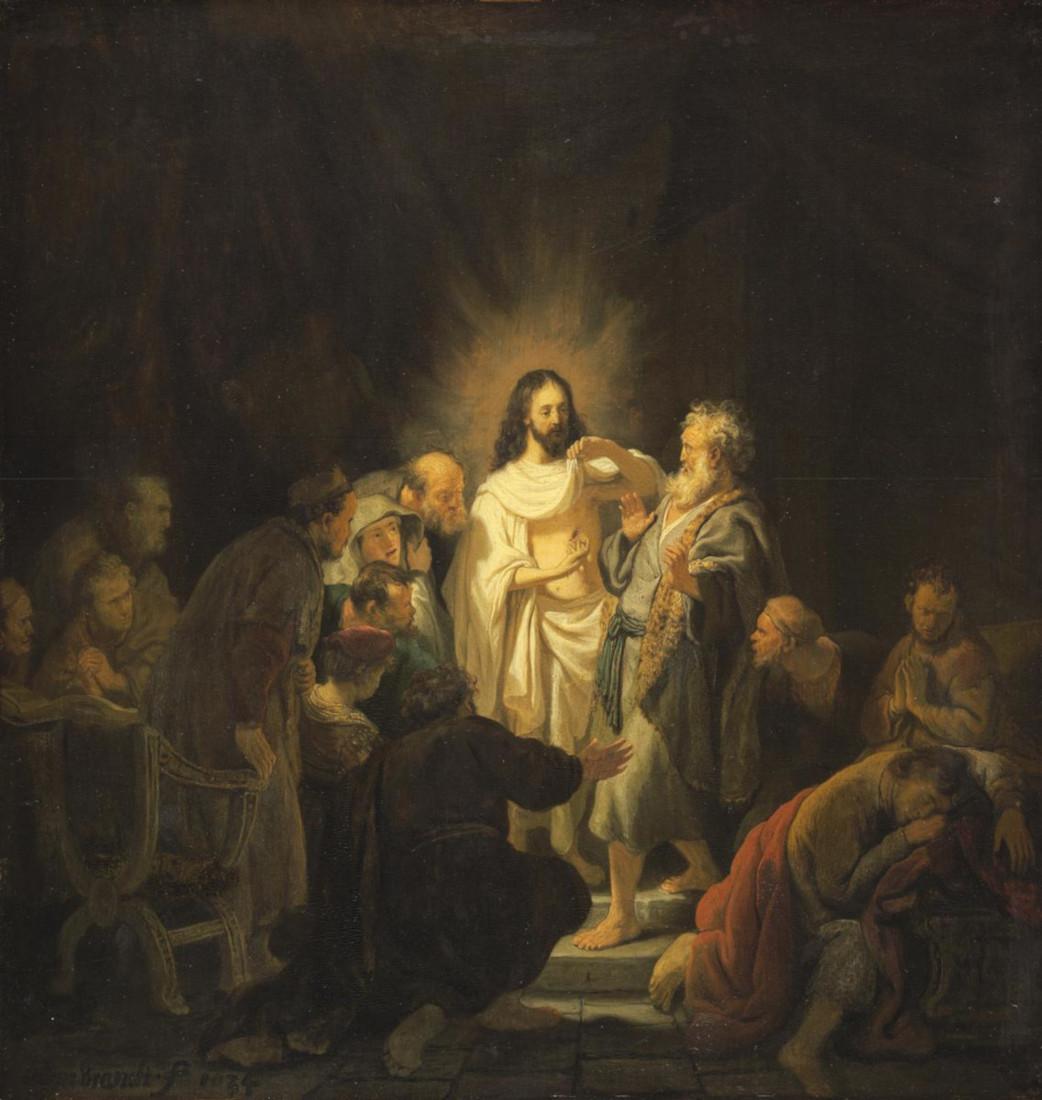 Rembrandt Harmensz. van Rijn: Doubting Thomas