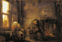 Rembrandt Harmensz. van Rijn: Tobit and Anna waiting for the return of their son