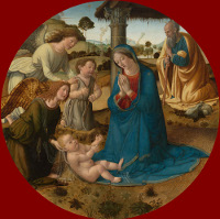 Cosimo Rosselli: The Adoration of the Child