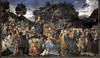 Cosimo Rosselli: The sermon on the mount