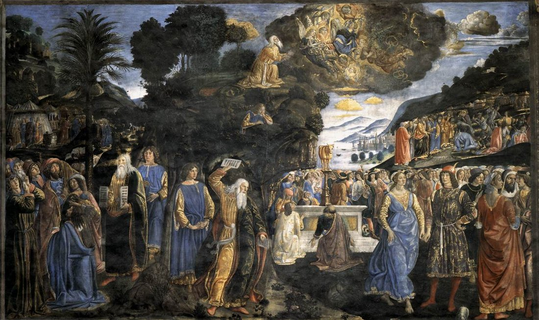 Cosimo Rosselli: Moses and the Tables of the Law