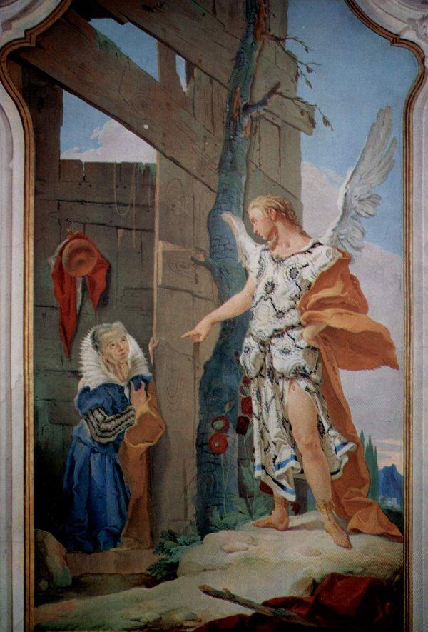 Giovanni Battista Tiepolo: The Angel Appears to Sarah