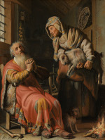 Rembrandt Harmensz. van Rijn: Tobit and Anna with the Goat (1626)