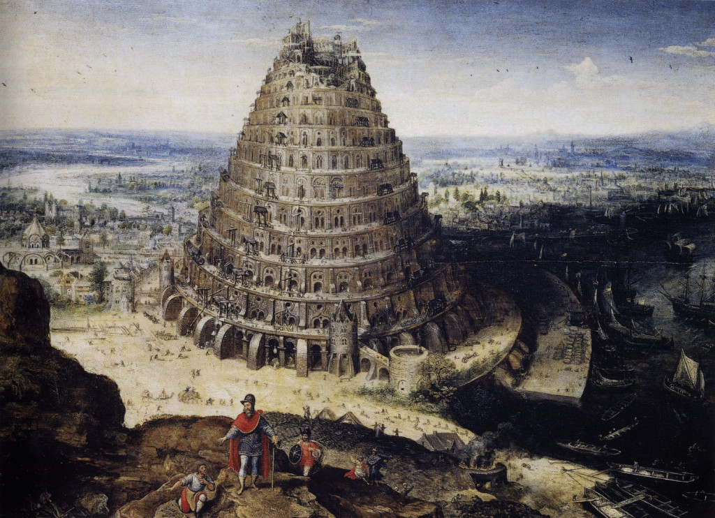 Lucas van Valckenborch: The tower of Babel (1594)