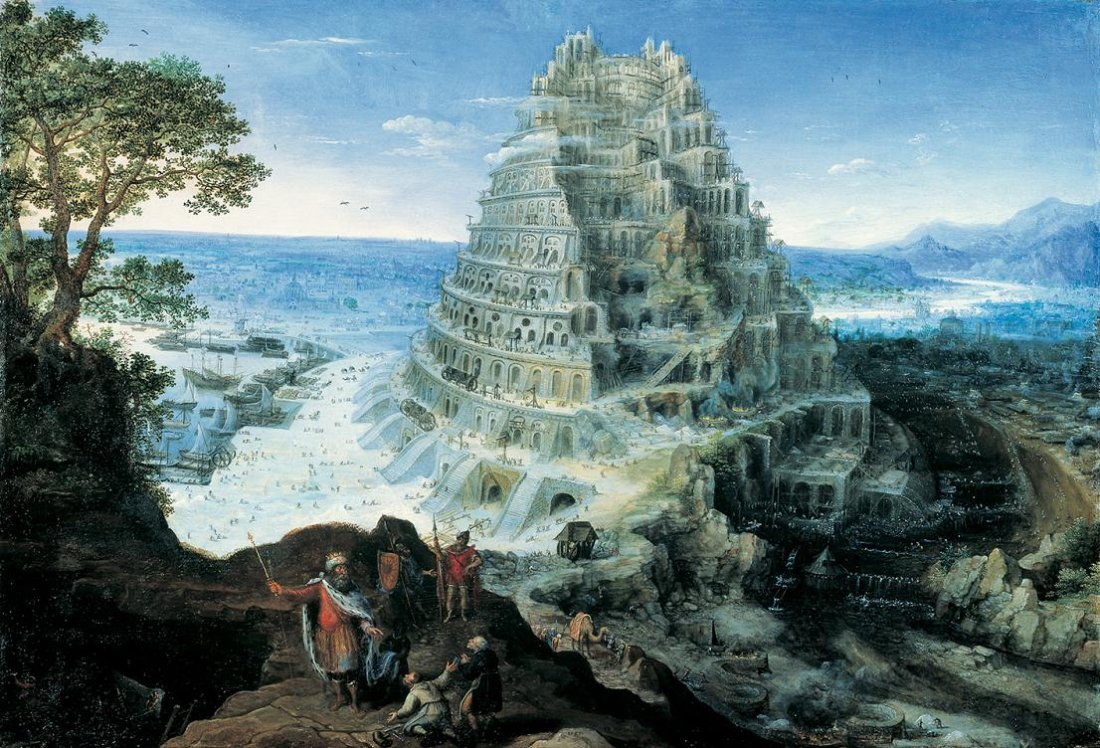 Lucas van Valckenborch: The tower of Babel (1595)