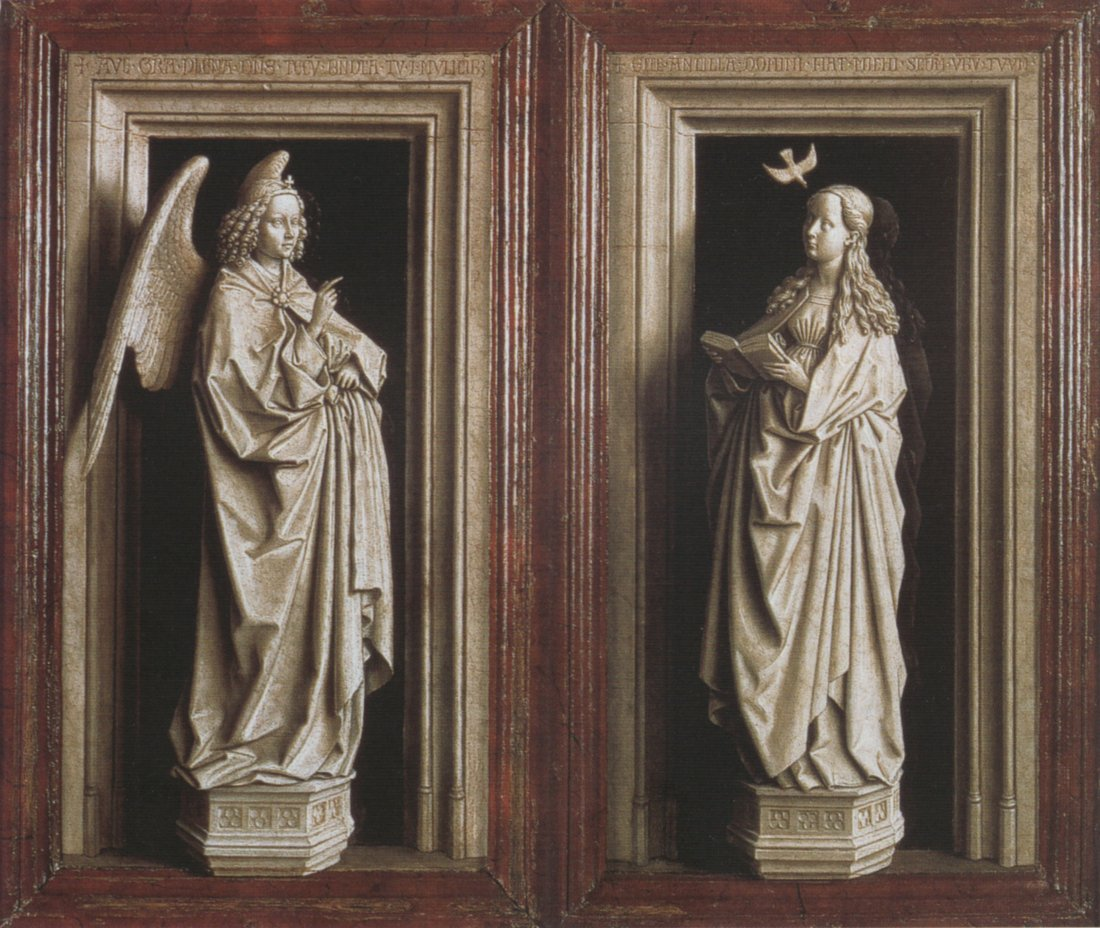 Jan van Eyck: The Annunciation (Madrid)