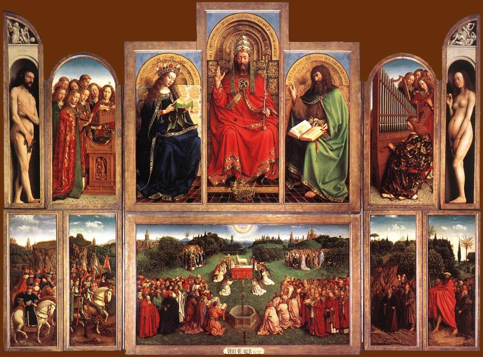 Jan van Eyck: The Ghent altarpiece (opened)