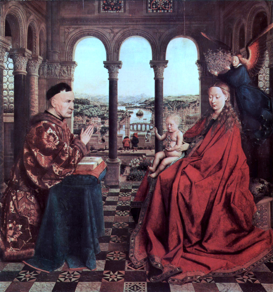 Jan van Eyck: The Virgin of Chancellor Rolin