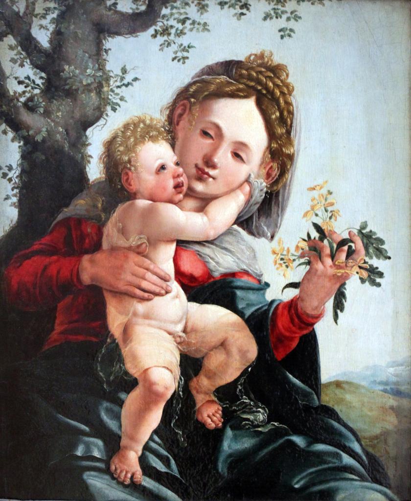 van Scorel: Madonna with wild roses