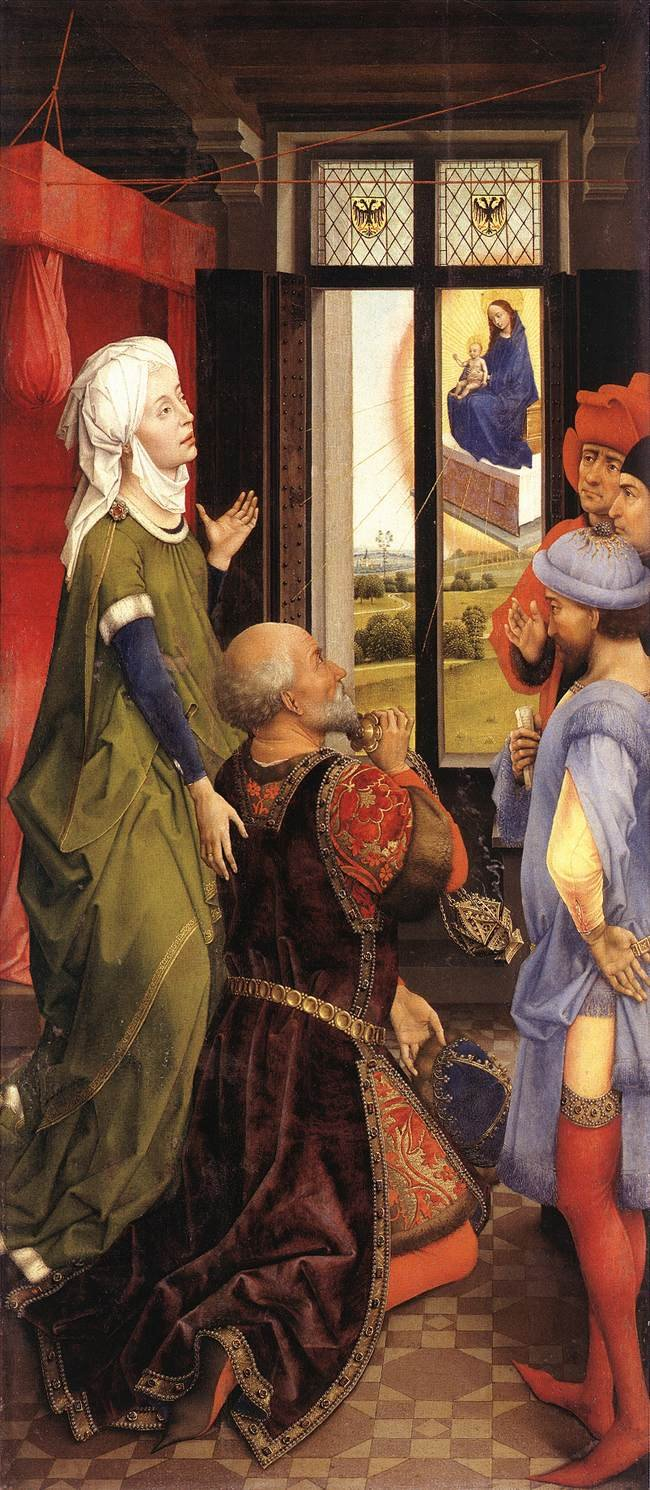 Rogier van der Weyden: The Appereance of Mary before Augustus