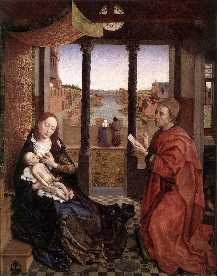 Rogier van der Weyden: St Luke Drawing the Virgin