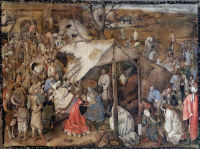 Pieter Bruegel the Elder: The Adoration of the Magi (Brussels)