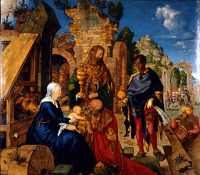 Albrecht Dürer: The Adoration of the Magi (oil)
