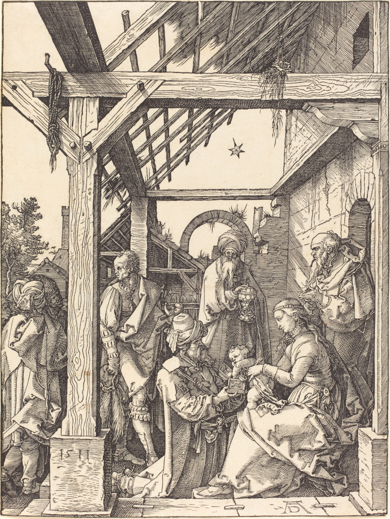 Albrecht D�rer: The Adoration of the Magi (engraving)