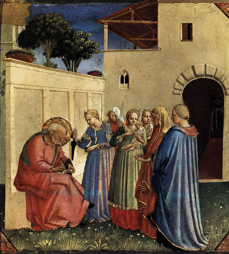 Fra Angelico: The Naming of John the Baptist